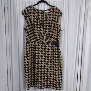 Calvin Klein Houndstooth Knit Dress